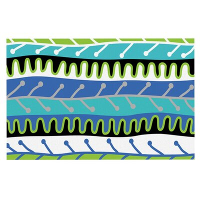 Jacqueline Milton Salsa Doormat Color: Blue/Aqua/Green