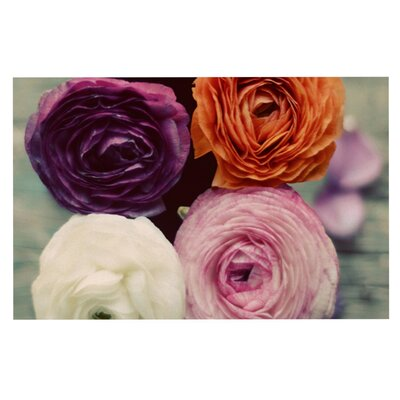 Cristina Mitchell Four Kinds of Beauty Roses Decorative Doormat
