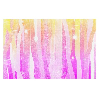Frederic Levy-Hadida Jungle Stripes Painting Doormat Color: Pink/Yellow