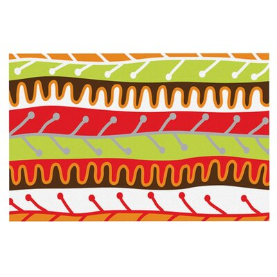 Jacqueline Milton Salsa Doormat Color: Orange/Yellow/Red