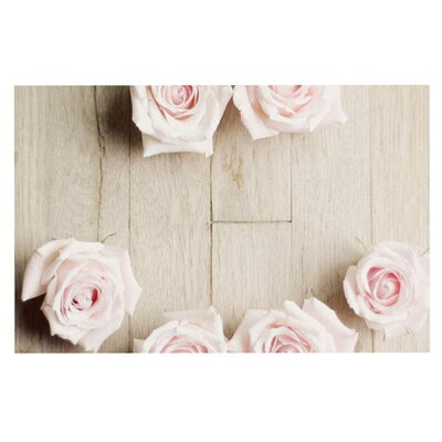 Cristina Mitchell Smile Wood Roses Decorative Doormat