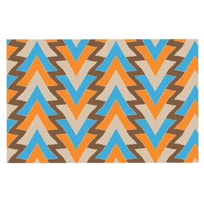 Julia Grifol My Triangles Doormat Color: Blue/Aqua