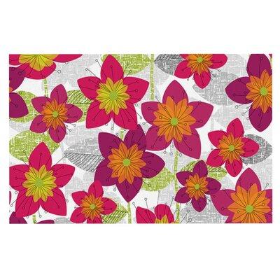 Jacqueline Milton Star Flower Floral Doormat
