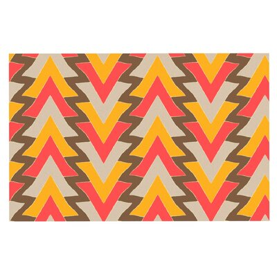 Julia Grifol My Triangles Doormat Color: Red/Brown