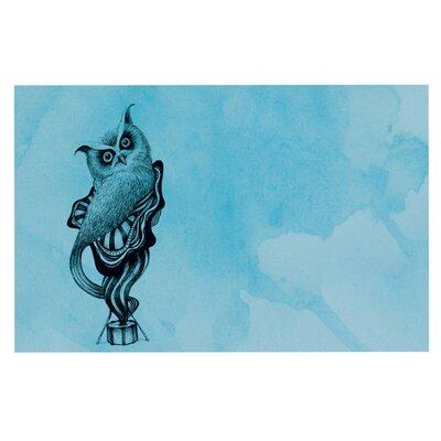 Graham Curran Owl Doormat Color: Blue