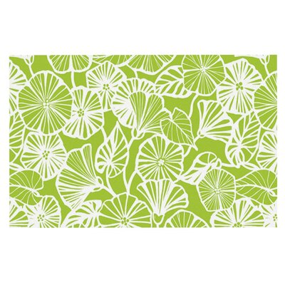 Jacqueline Milton Vine Shadow Floral Doormat Color: Green