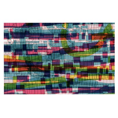 Frederic Levy-Hadida Squares Traffic Doormat Color: Pastel