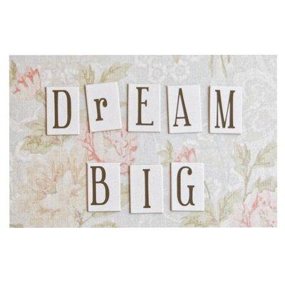 Debbra Obertanec Dream Big Quote Floral Doormat
