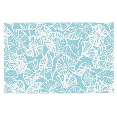 Jacqueline Milton Vine Shadow Floral Doormat Color: Blue