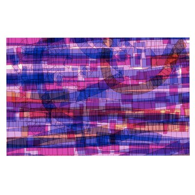 Frederic Levy-Hadida Squares Traffic Doormat Color: Pink