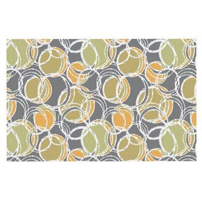 Julia Grifol Simple Circles Doormat Color: Gray