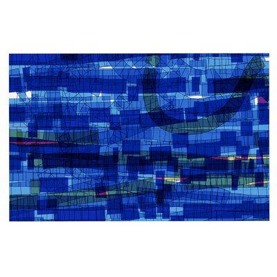 Frederic Levy-Hadida Squares Traffic Doormat Color: Blue