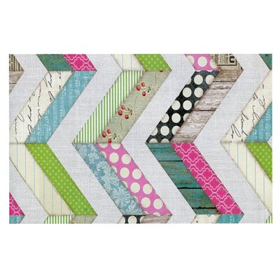 Heidi Jennings Fabric Much? Colored Cloth Doormat