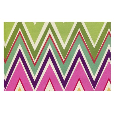 Heidi Jennings Clash Of Color Chevron Doormat