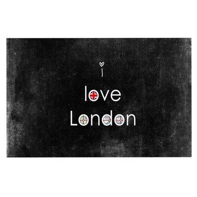Ingrid Beddoes I Love London Grundge Doormat