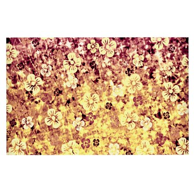 Ebi Emporium Flower Power Doormat Color: Yellow/Orange