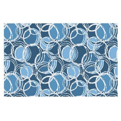 Julia Grifol Simple Circles Doormat Color: Blue
