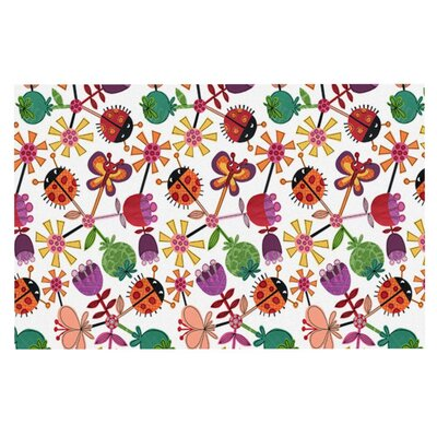 Jane Smith Garden Floral Plants Bugs Doormat
