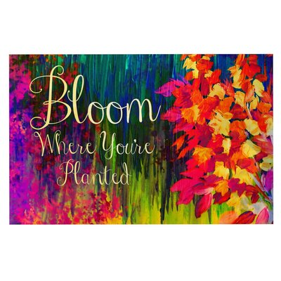 Ebi Emporium Bloom Where Youre Planted Floral Doormat