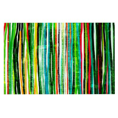 Frederic Levy-Hadida Fancy Stripes Doormat Color: Green