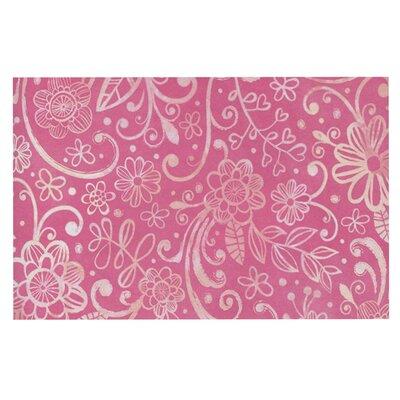 Heidi Jennings Too Much Magenta Floral Doormat