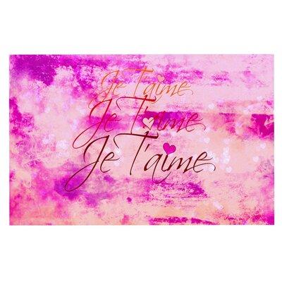 Ebi Emporium Je Taime Pastel Grundge Doormat Color: Pastel/Grunge