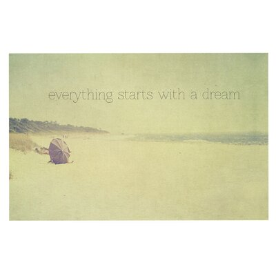 Ingrid Beddoes Everything Starts With A Dream Beach Quote Doormat