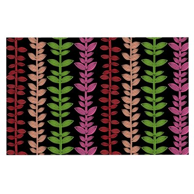 Jane Smith Garden Vine and Leaf Rainbow Vines Doormat