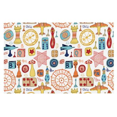 Jane Smith Vintage Games Doormat