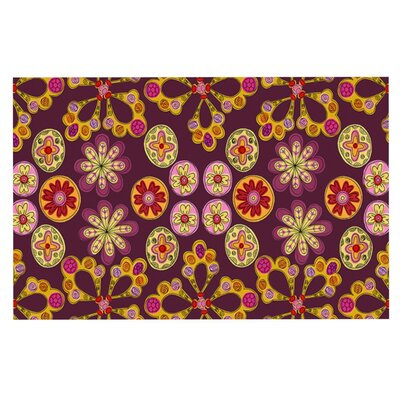 Jane Smith Indian Jewelry Floral Doormat