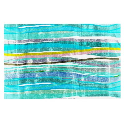 Frederic Levy-Hadida Fancy Stripes Doormat Color: Aqua Blue