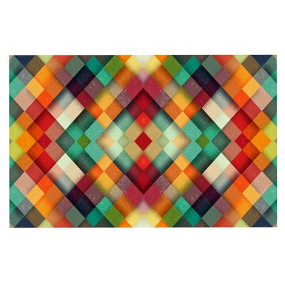Danny Ivan Time Between Geometric Abstract Doormat