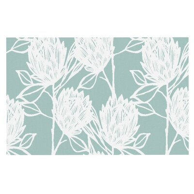 Gill Eggleston Protea Jade Flowers Doormat Color: Blue