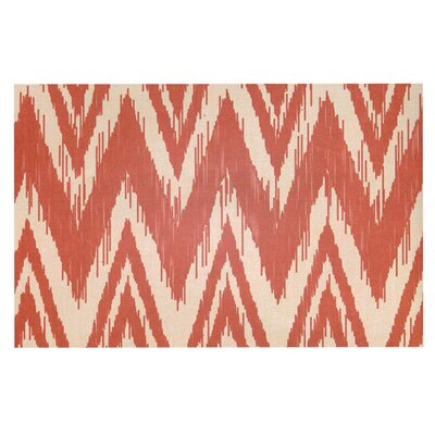 Heidi Jennings Tribal Chevron Doormat Color: Red