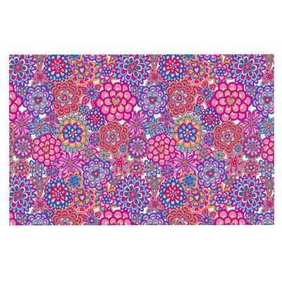 Julia Grifol My Happy Flowers Doormat Color: Pink