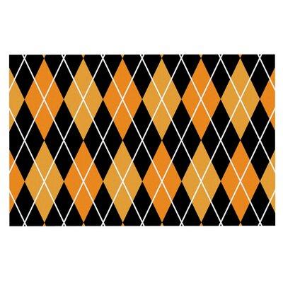 Argyle Doormat Color: Orange/Black