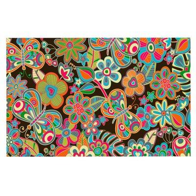 Julia Grifol My Butterflies and Flowers Doormat