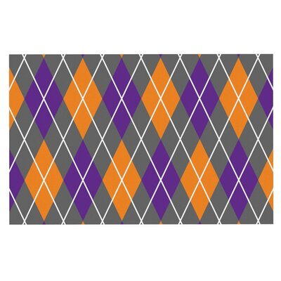 Argyle Doormat Color: Gray/Orange/Blue
