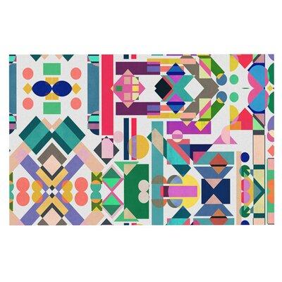 Mareike Boehmer Geometry 2B Abstract Rainbow Doormat
