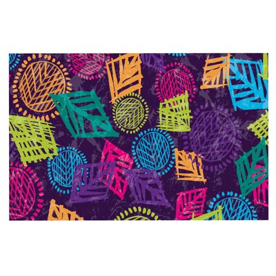 Emine Ortega African Beat Doormat Color: Purple