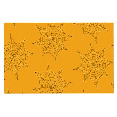 Spiderwebs Doormat Color: Yellow