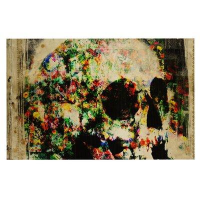 Frederic Levy-Hadida Floral Skully Doormat