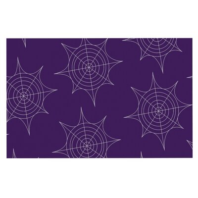 Spiderwebs Doormat Color: Purple