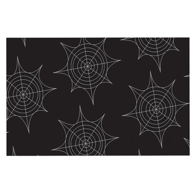 Spiderwebs Doormat Color: Black