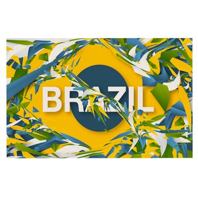 Danny Ivan Brazil World Cup Doormat