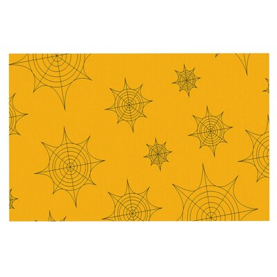 Mini Webs Doormat Color: Orange