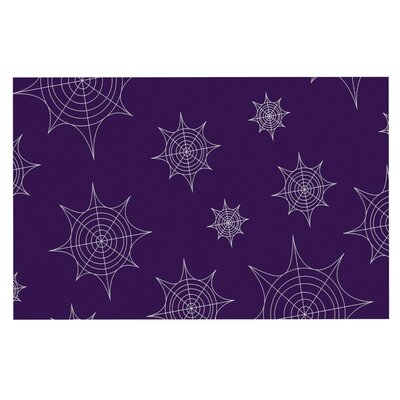 Mini Webs Doormat Color: Purple