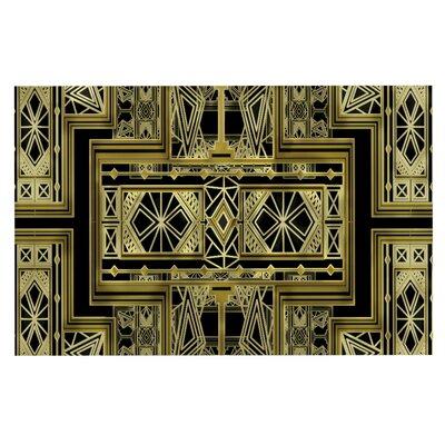 Nika Martinez Art Deco Doormat Color: Black/Gold