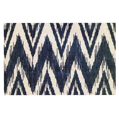Heidi Jennings Tribal Chevron Doormat Color: Black