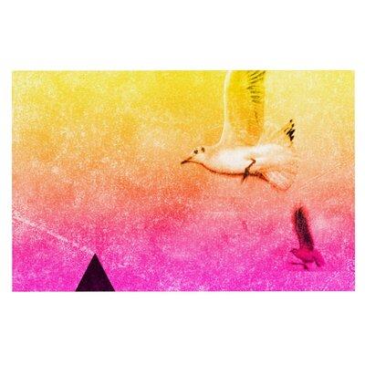 Frederic Levy-Hadida Seagulls in Shiny Sky Doormat